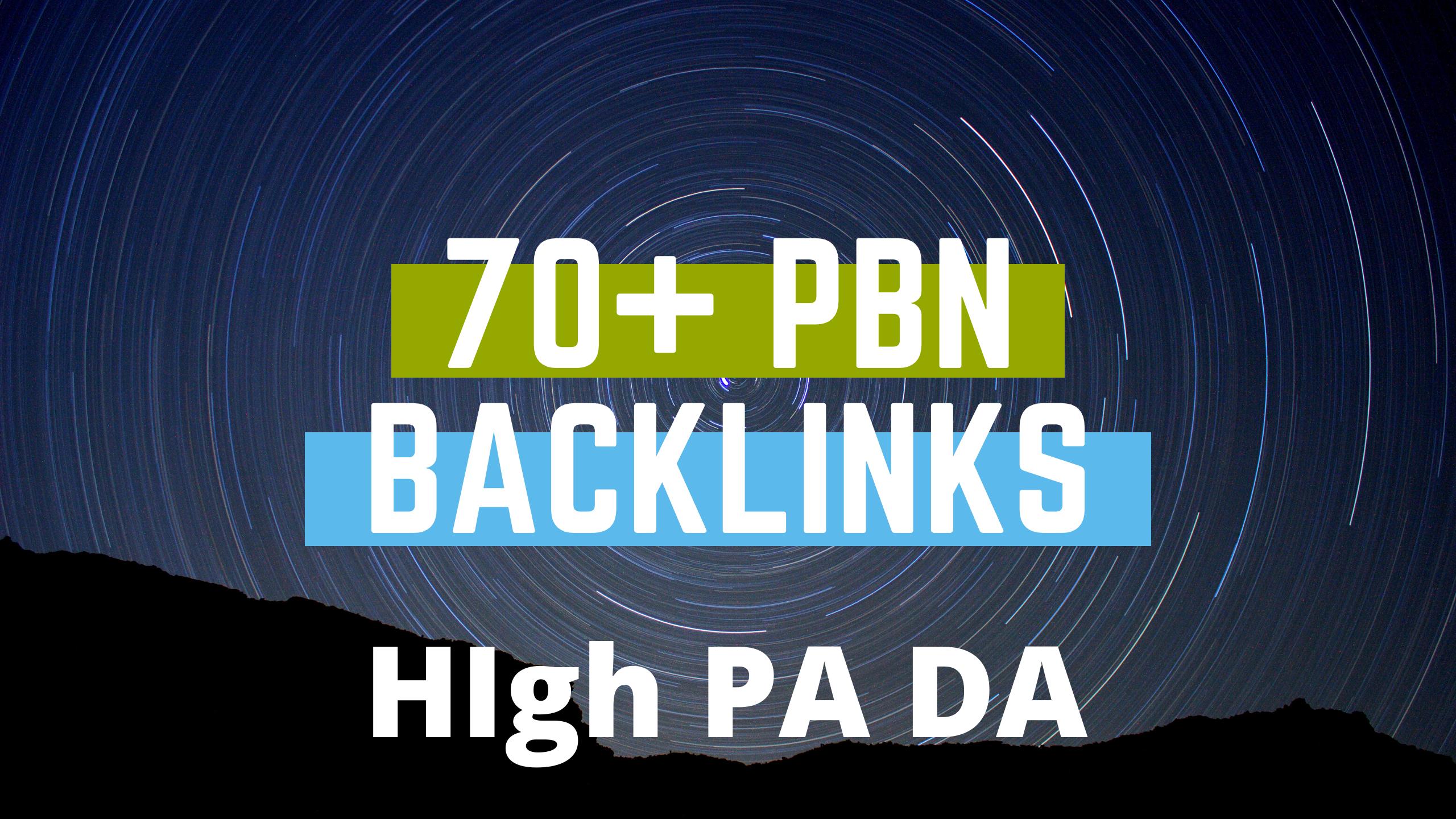 70 PBN Backlinks High PA DA and Blogger Backlink to get fast rankup