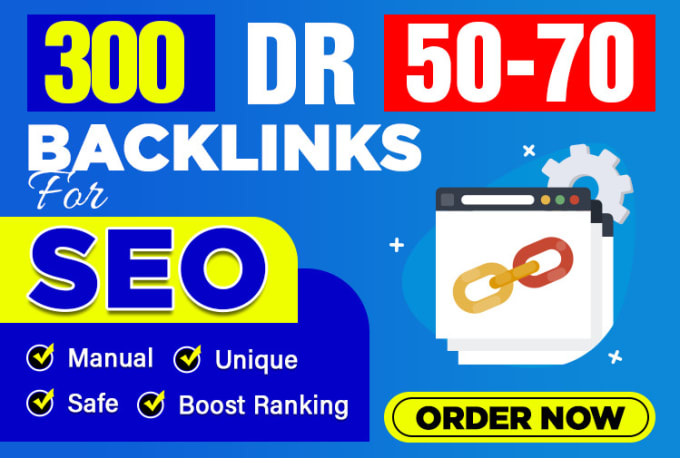 I will make DR 50 to 70 high quality dofollow backlinks seo