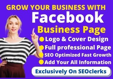 I will setup & optimization your Facebook business page