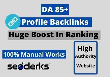 I Will Create 100 High Quality Dofollow Profile Backlinks Manually For SEO Ranking