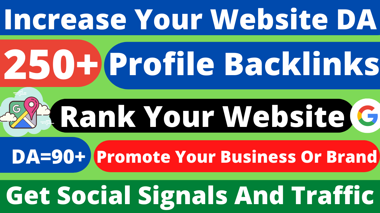 Manually Create 250+HQSafe High authority Profile Creation Backlinks Rank on Google