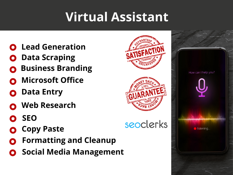 I Will Be Your Personal and Administrative Virtual Assistant