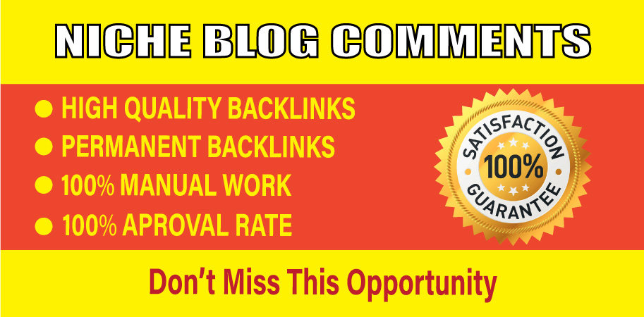 Provide high quality 50 niche relevant blog comments backlinks