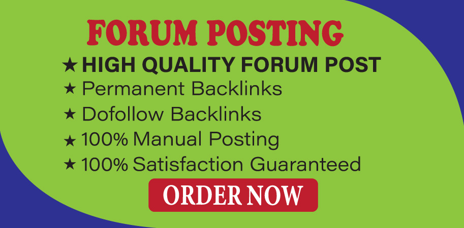 Provide 20+ Forum Posting High Authority SEO Backlinks