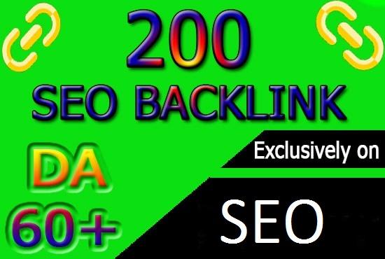 I will do 200 high pr authority SEO backlinks, link building