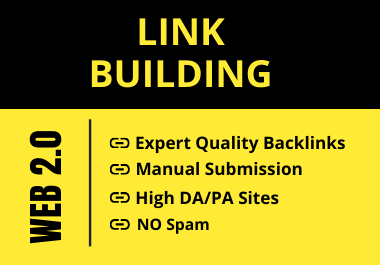 I will Provide 20 High DA/PA Manual Web 2.0 Backlinks
