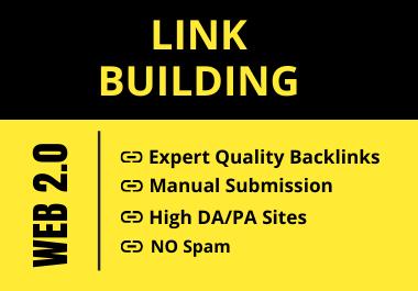 I will Provide 20 High DA/PA Manual Web 2.0 Backlinks