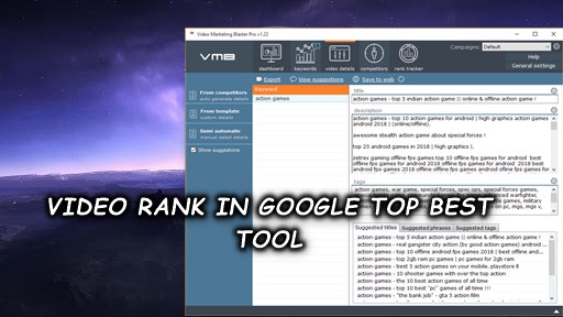 video top best software video rank in google,  yahoo, youtube and bing etc