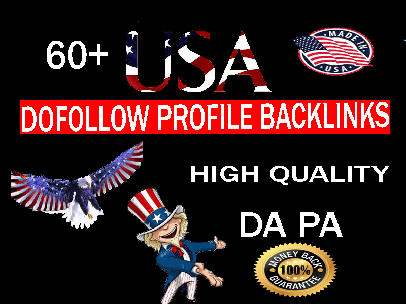 60 usa do follow backlinks profile linkbuildings permanent Genuine