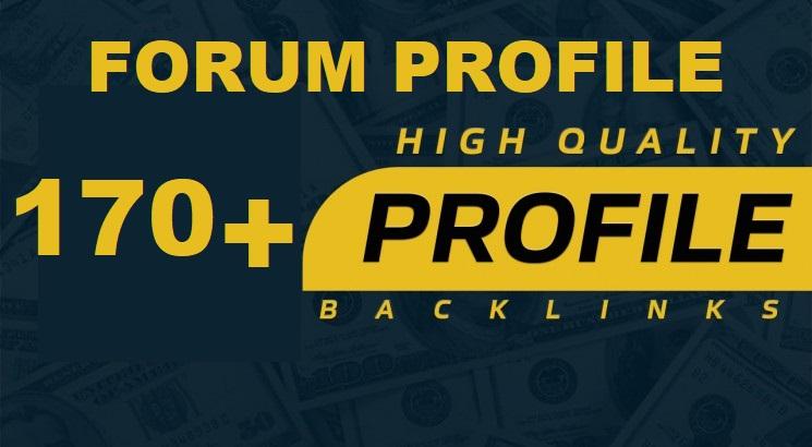Create 170+ Forum Profile Backlinks