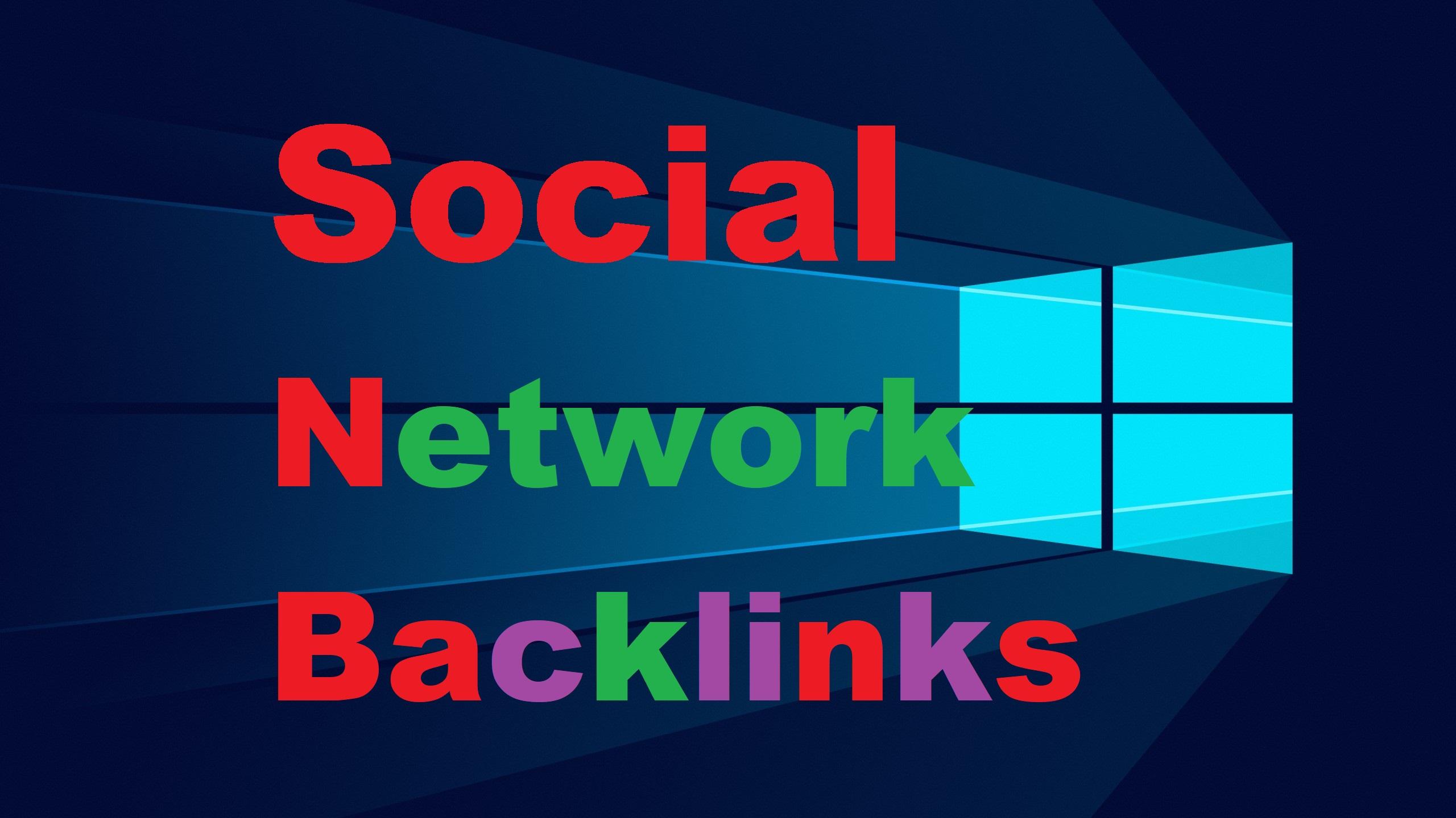 150 High Authority Social Network SEO Backlinks