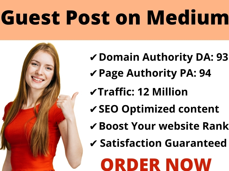 I Will Write & Publish SEO Optimized Guest Post Backlinks On Medium DA 96 PA 91 Boost your site Rank