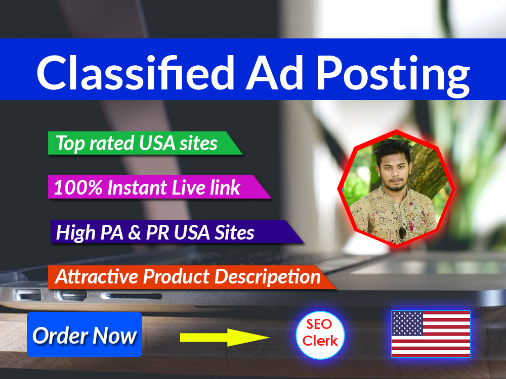 You will get Classified ads posting in USA top rated ads posting site