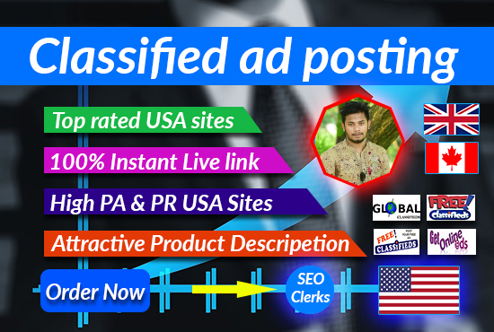 Promote your business by Classified ad posting in USA top rated sites