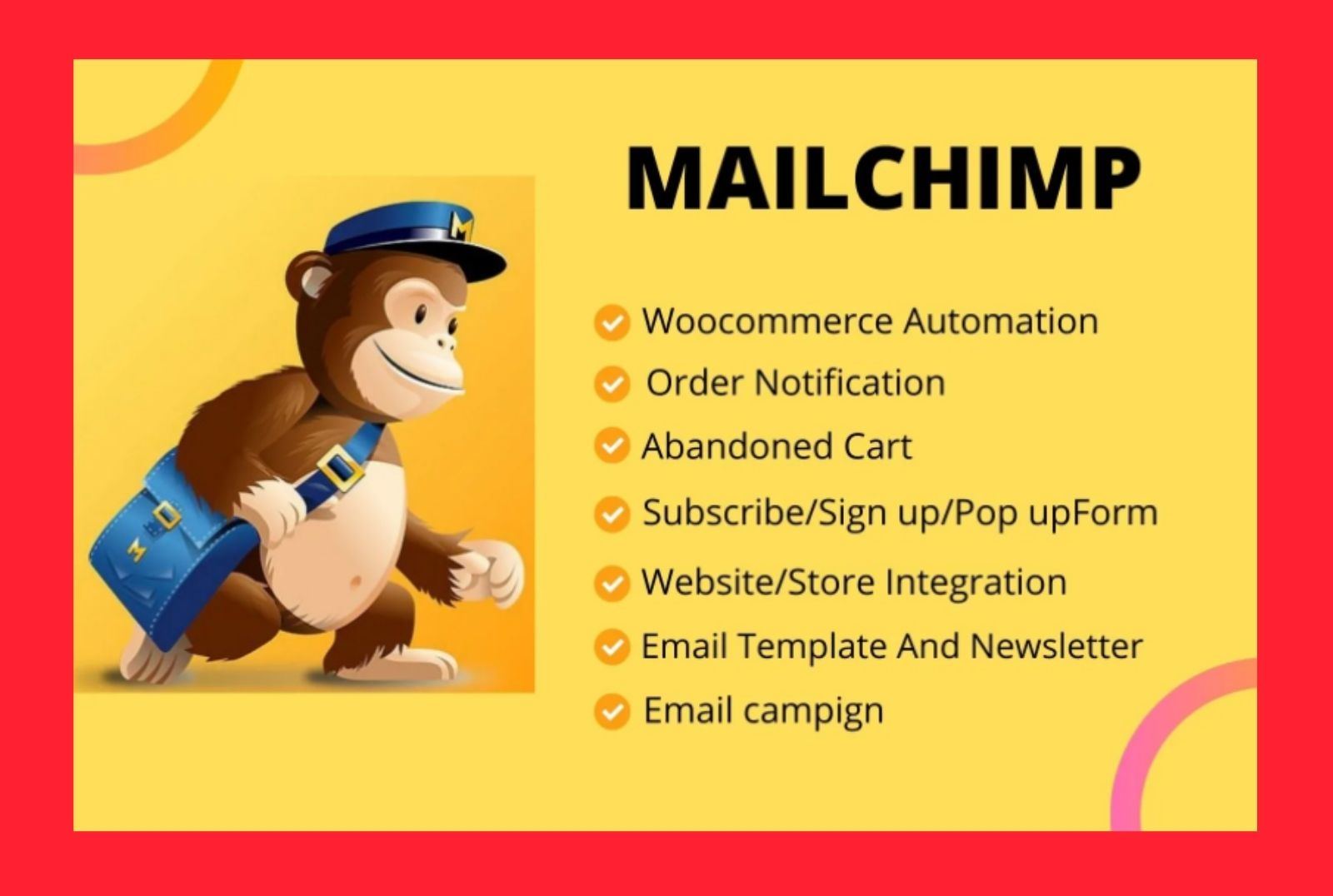 I will design a Responsive Mailchimp email template.