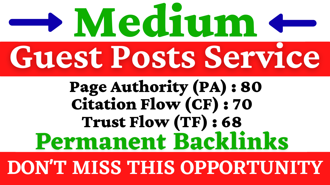 I Will Write and Publish Guest Posts On Medium