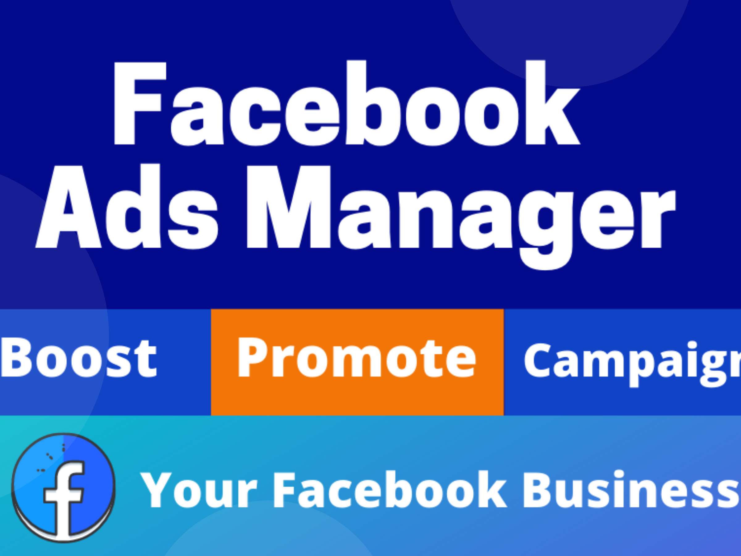 I will be your facebook ads manager and run ads campaign