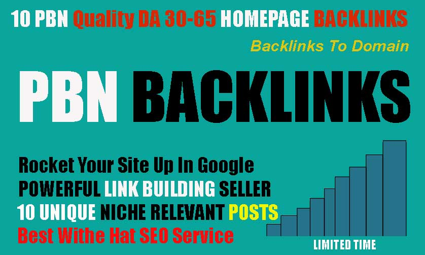 get powerfull 10+ pbn backlink da 40+ pa 40+ with unique domain