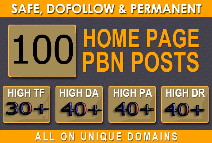 Build primium 100+ pbn backlink with da 40+ pa 40+ with unique domain
