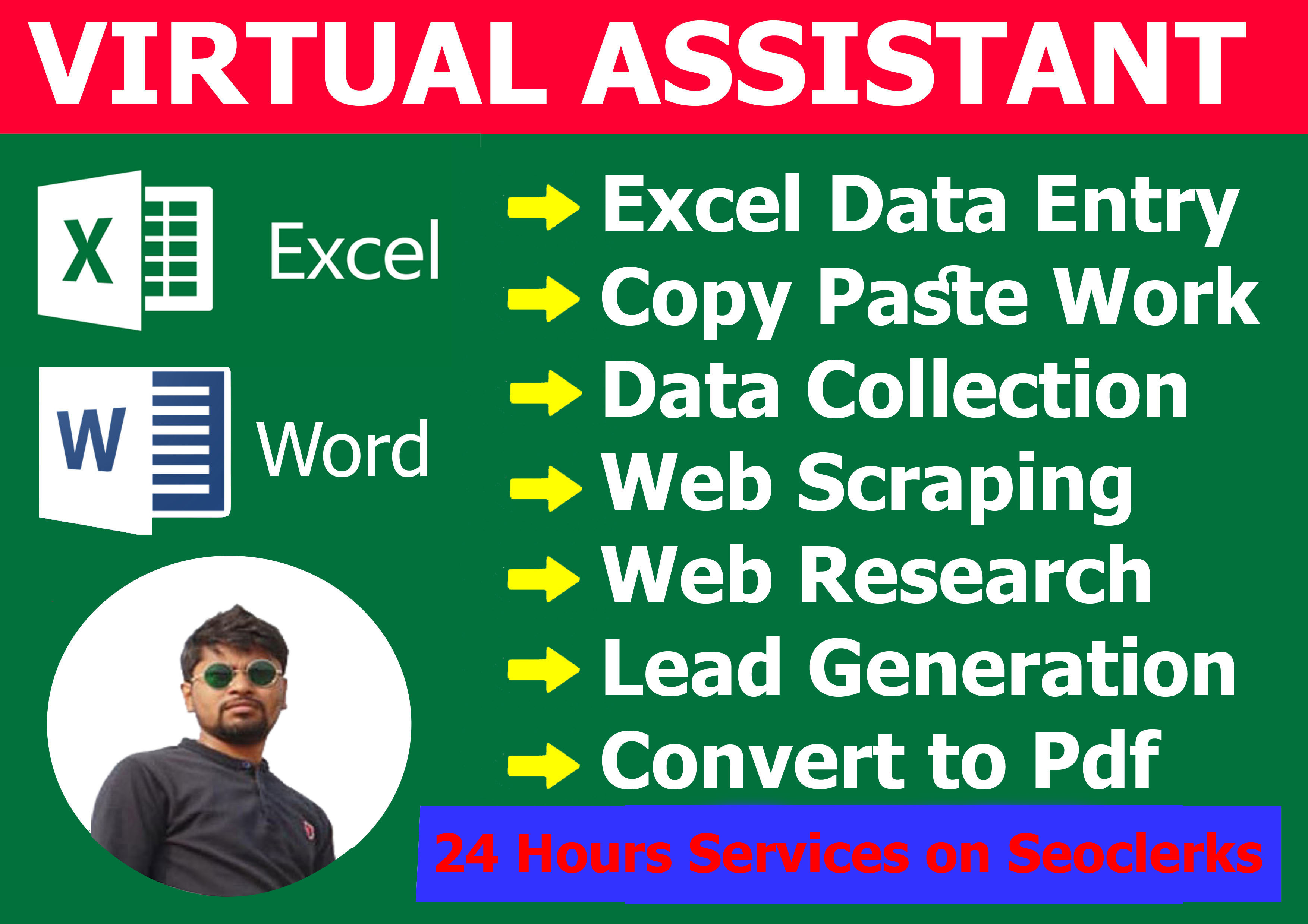 I will do data entry,  typing,  copy paste,  data collection