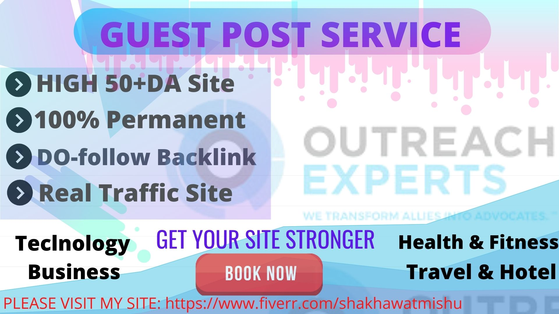 I will create 70 plus guest post link and outreach