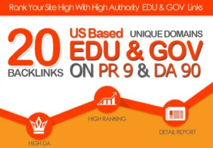 creat 100 manullay 20 EDU/GOV Safe SEO High Pr9 Backlinks 2020 Best Result