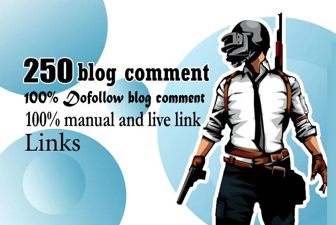 250 blog comments backlinks high seo service rank on google