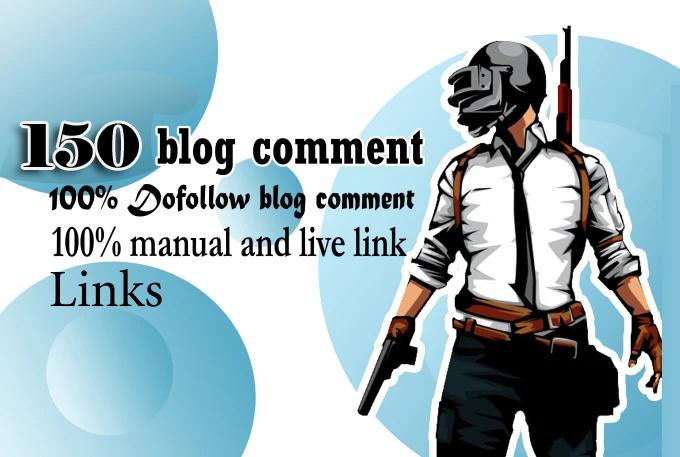 150 blog comments backlinks high SEO service rank on google