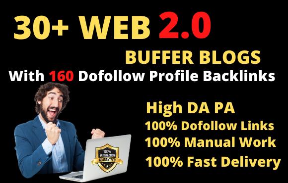 Create 30 web2 0 Buffer Blogs and 160 dofollow Profile Backlinks