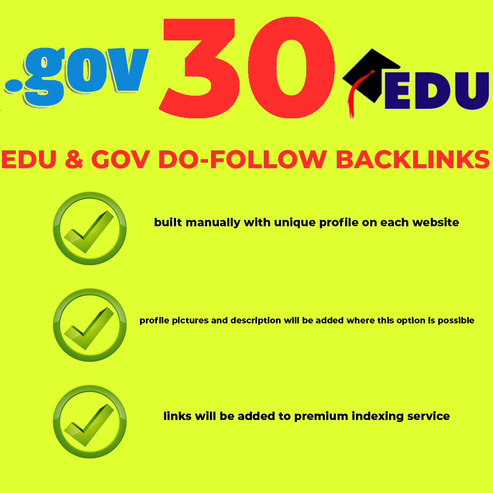 What are benefit from GOV and EDU links?