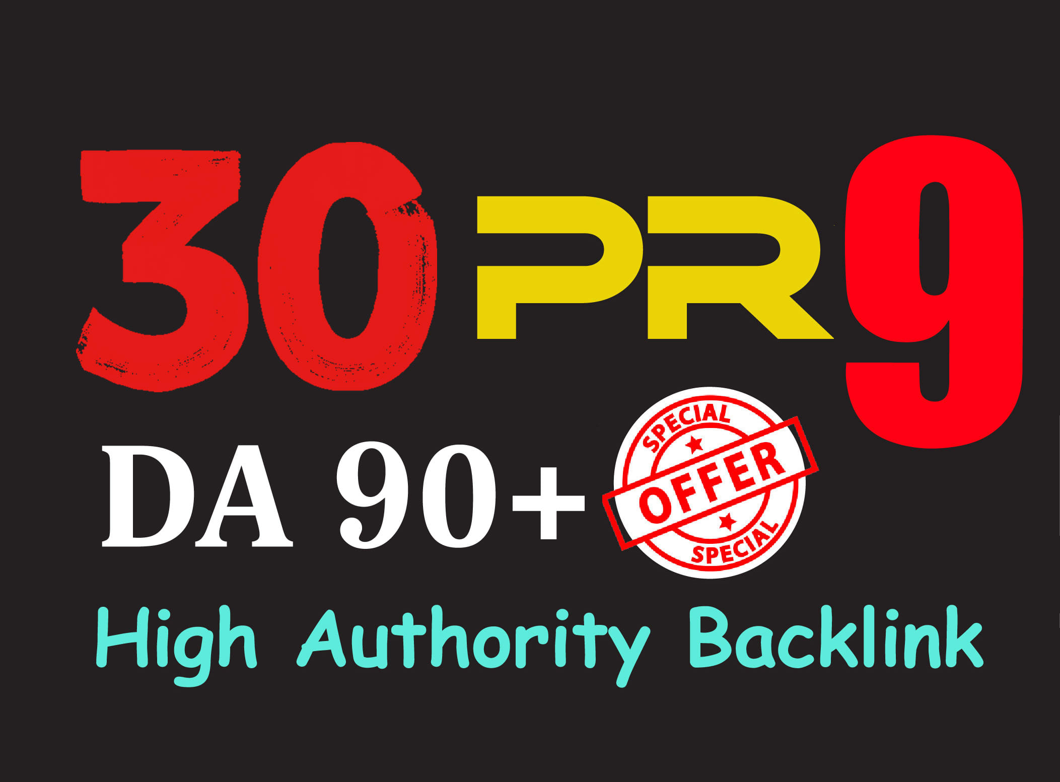 I Will Do Manually 30 pr9 DA 90+ Safe SEO 30+Domain High Authority Backlinks