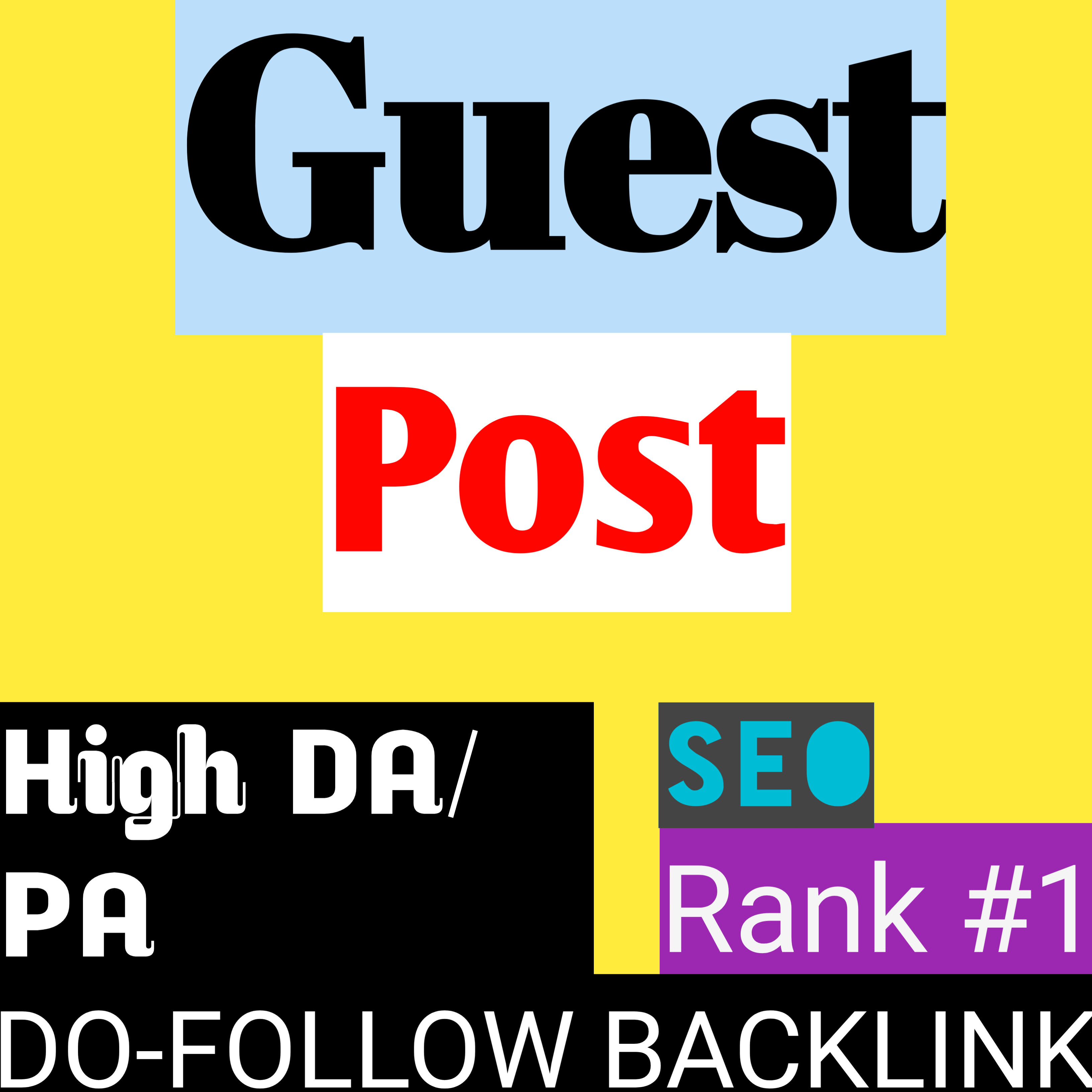I will create 4 high authority Guest Post SEO backlinks from real quality websites