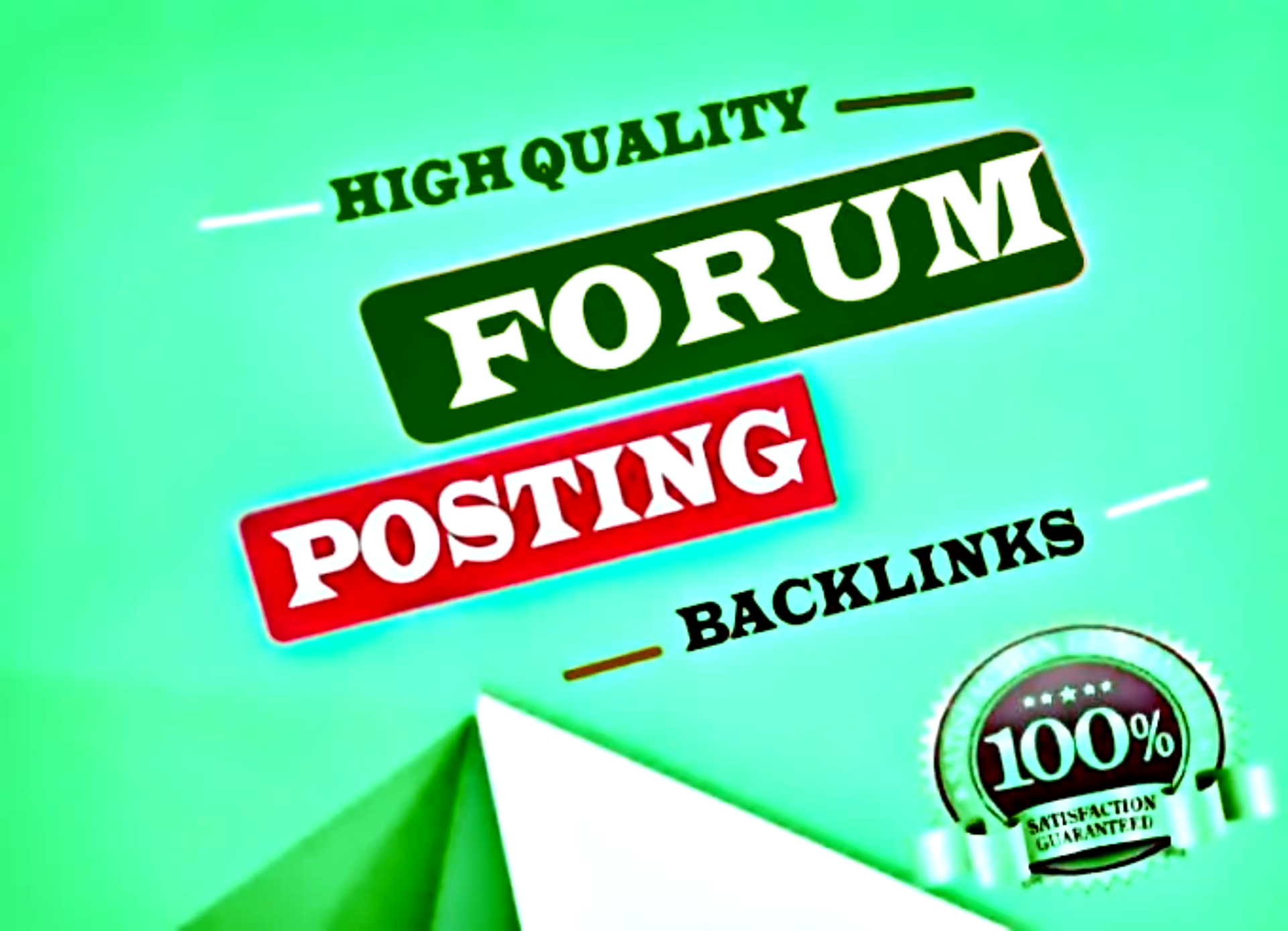 Make 50 HQ forum posting backlinks to increase your website ranking