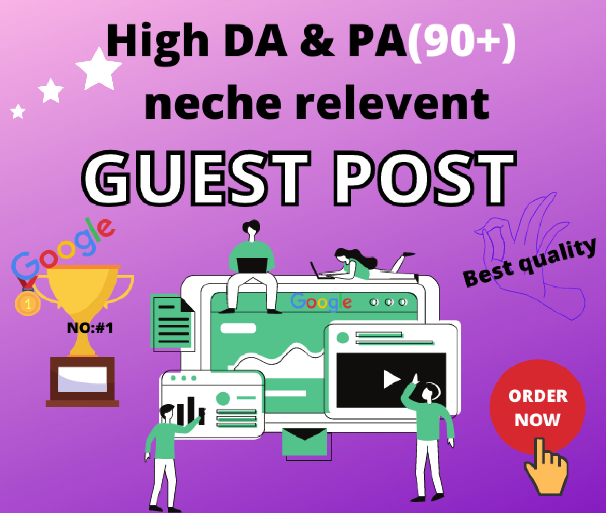 Provide high DA 90+ permanent dofollow manual 6 GUEST BLOGGING on top rated website