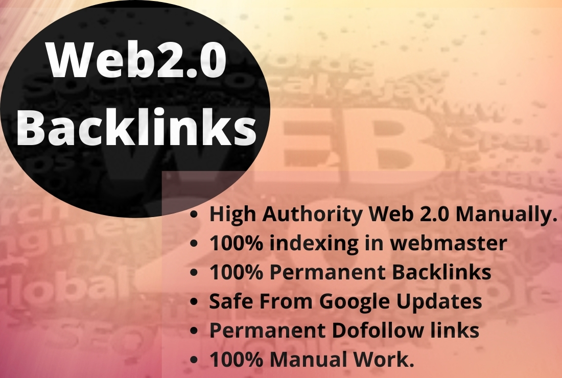 I Will Do 20 High Authority Web2 0 SEO Backlinks