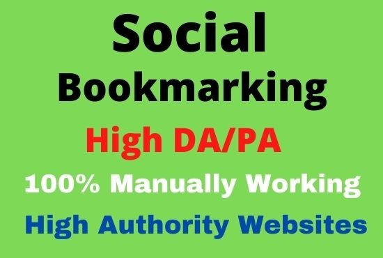 I will Manually 20 Social Bookmarking Backlinks For your website ranking