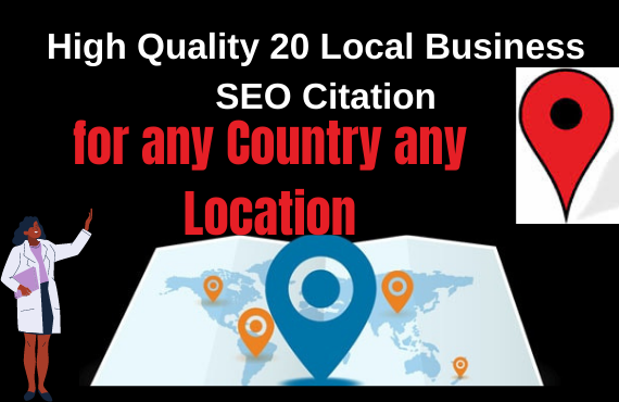 I will do 20 high quality Business Location In Google Map submission for local SEO