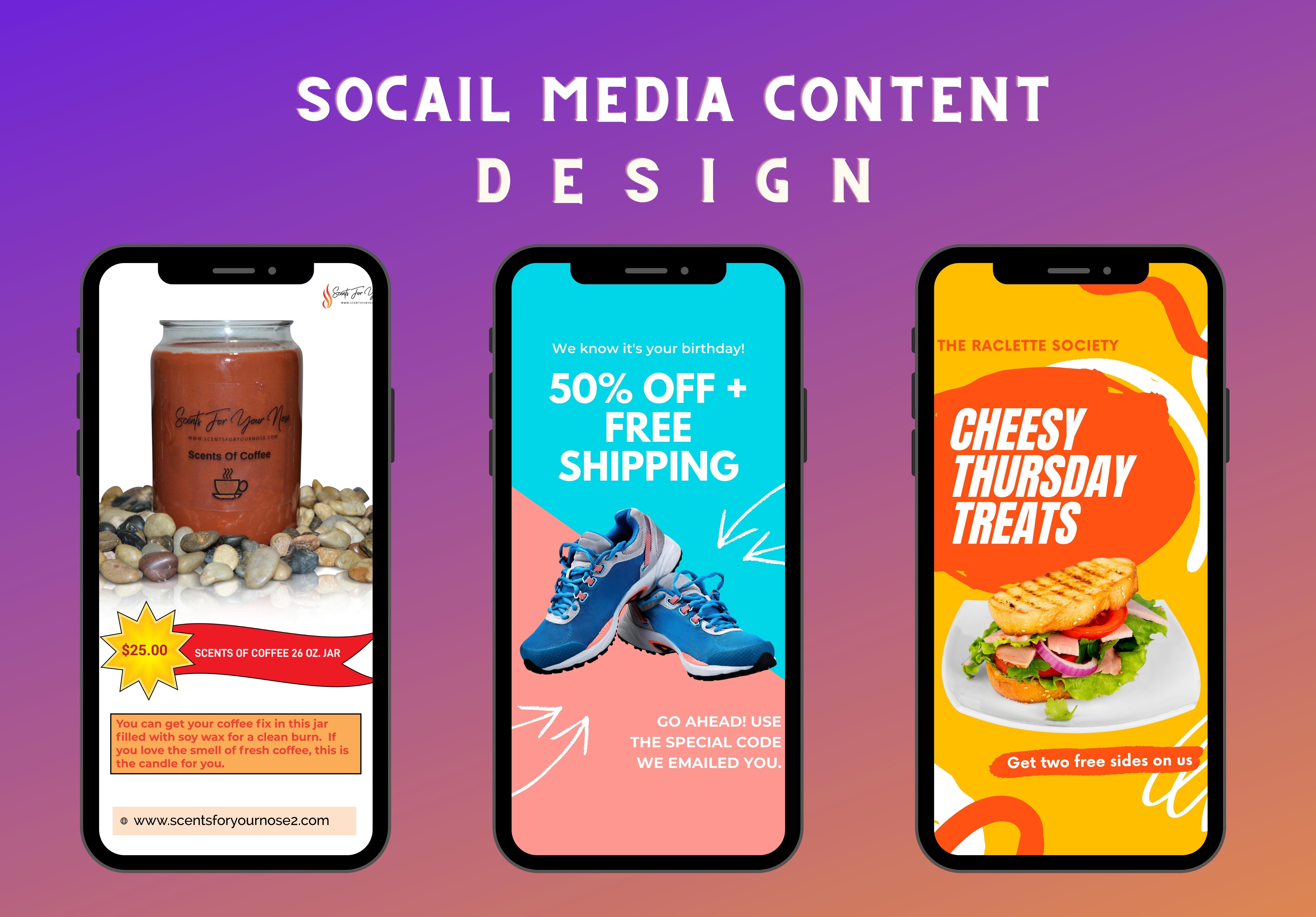 I Will 3 Social Media Content Design Pinterest Pin Facebook Ad Instagram Post