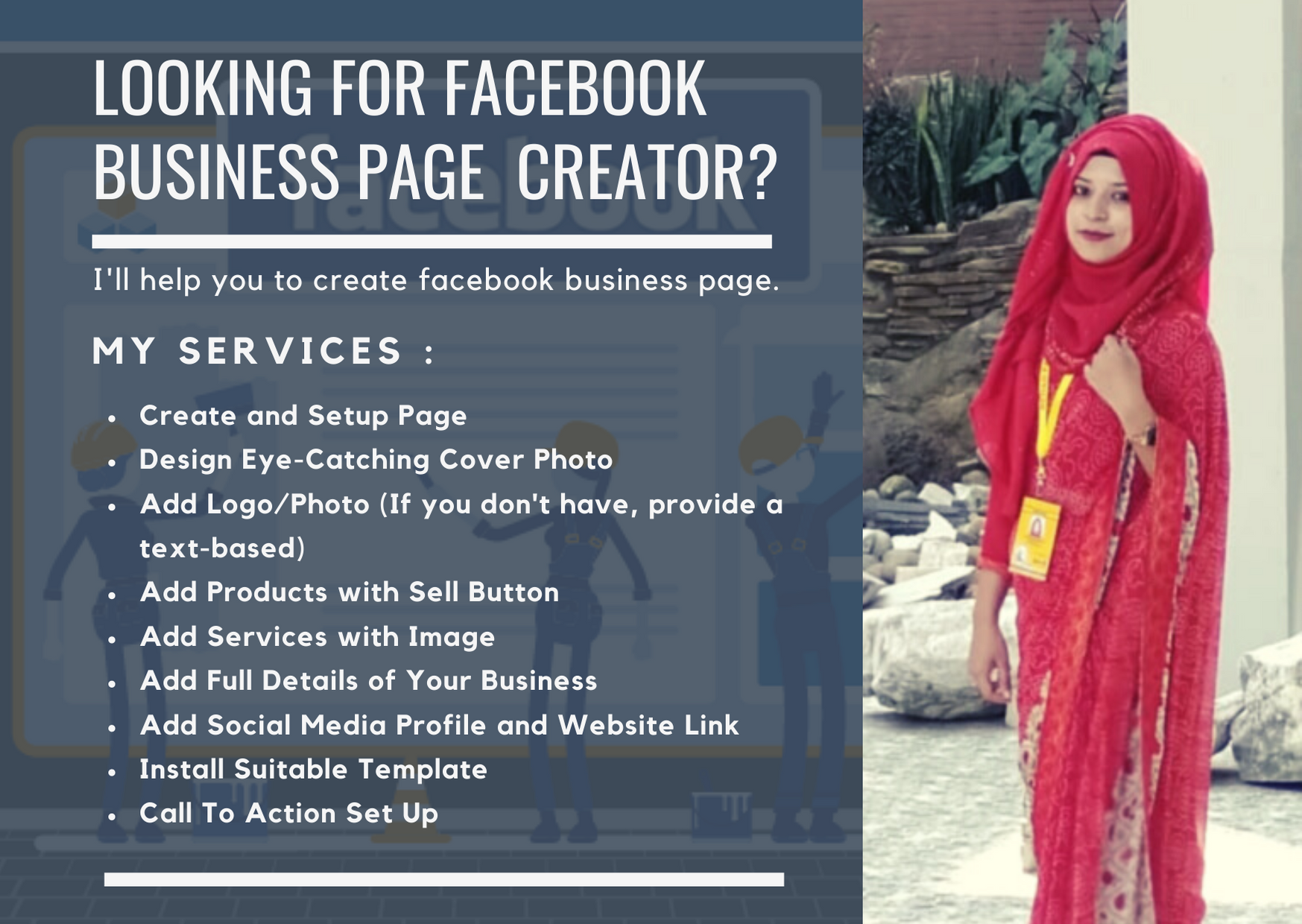 I will create and setup your Facebook Business Page within 24 hours