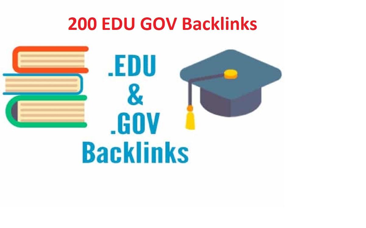 I will create 200 high da dofollow edu gov backlinks for top page of google