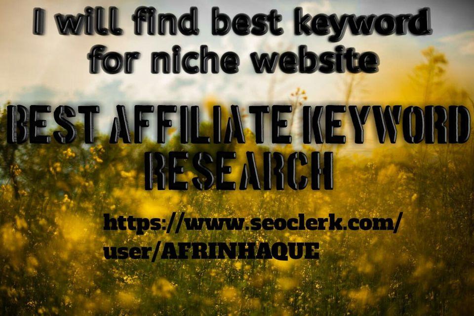 I will find 20 best keywords for affiliate marketing.