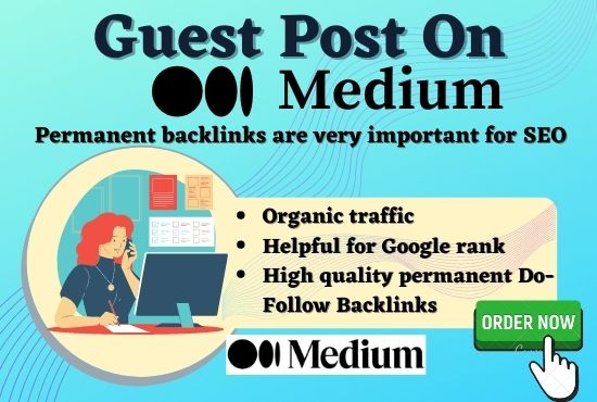 I will Write a content or a guest post on medium DA-94/PA-93