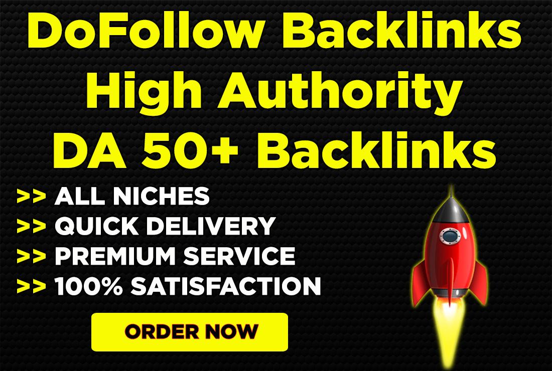 build high authority do follow backlinks