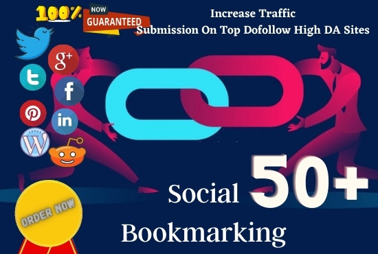 I will create Top 50+ Social Bookmarking Backlinks in High DA Sites