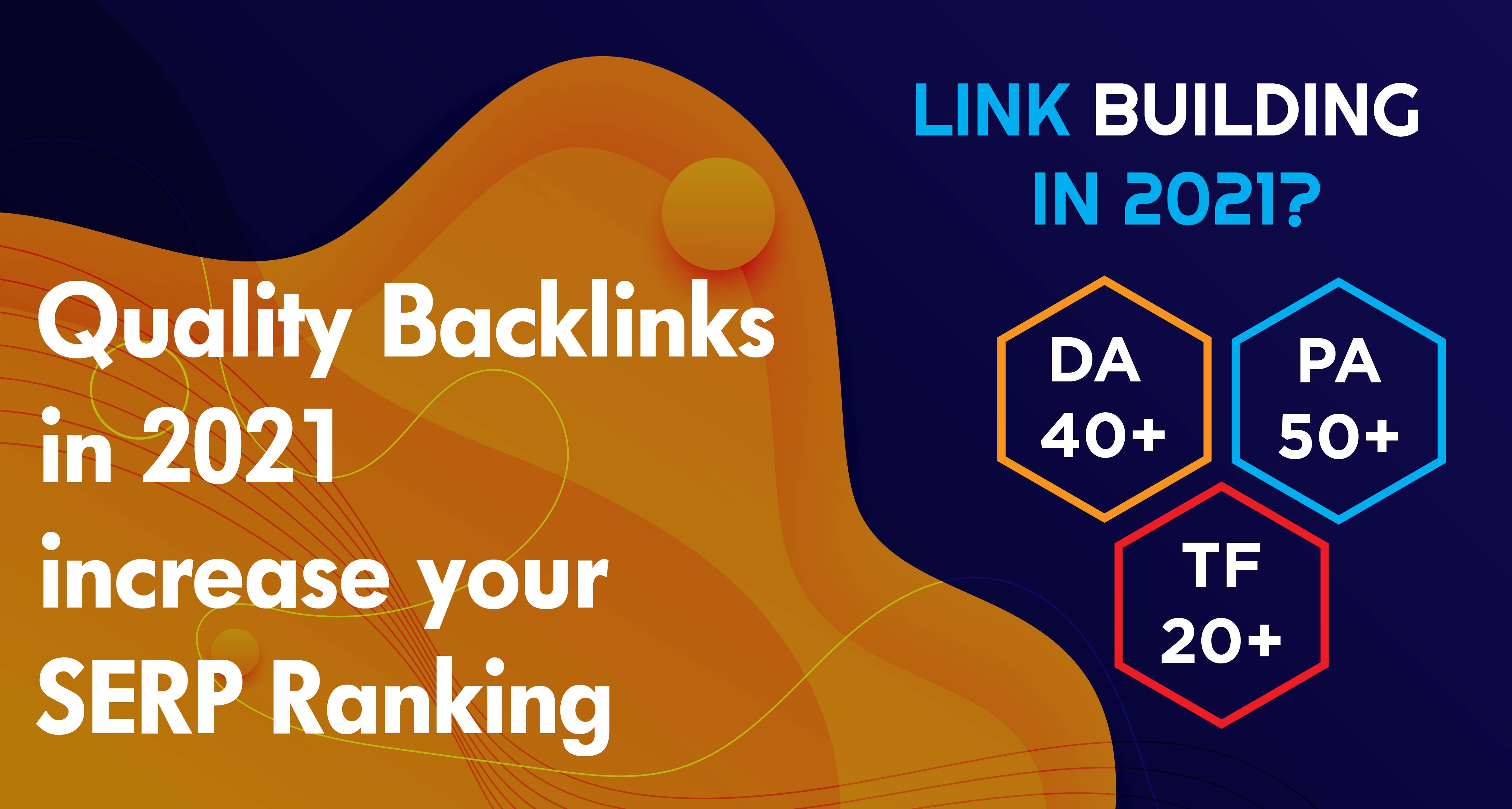 High Quality backlinks increase your ranking high authority blogs