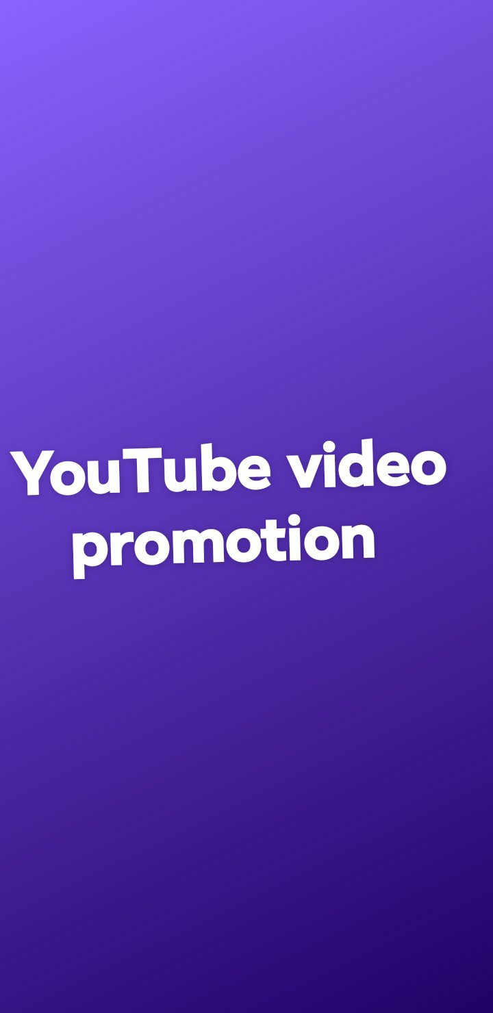 YouTube video promotion. High quality and super fast delivery.
