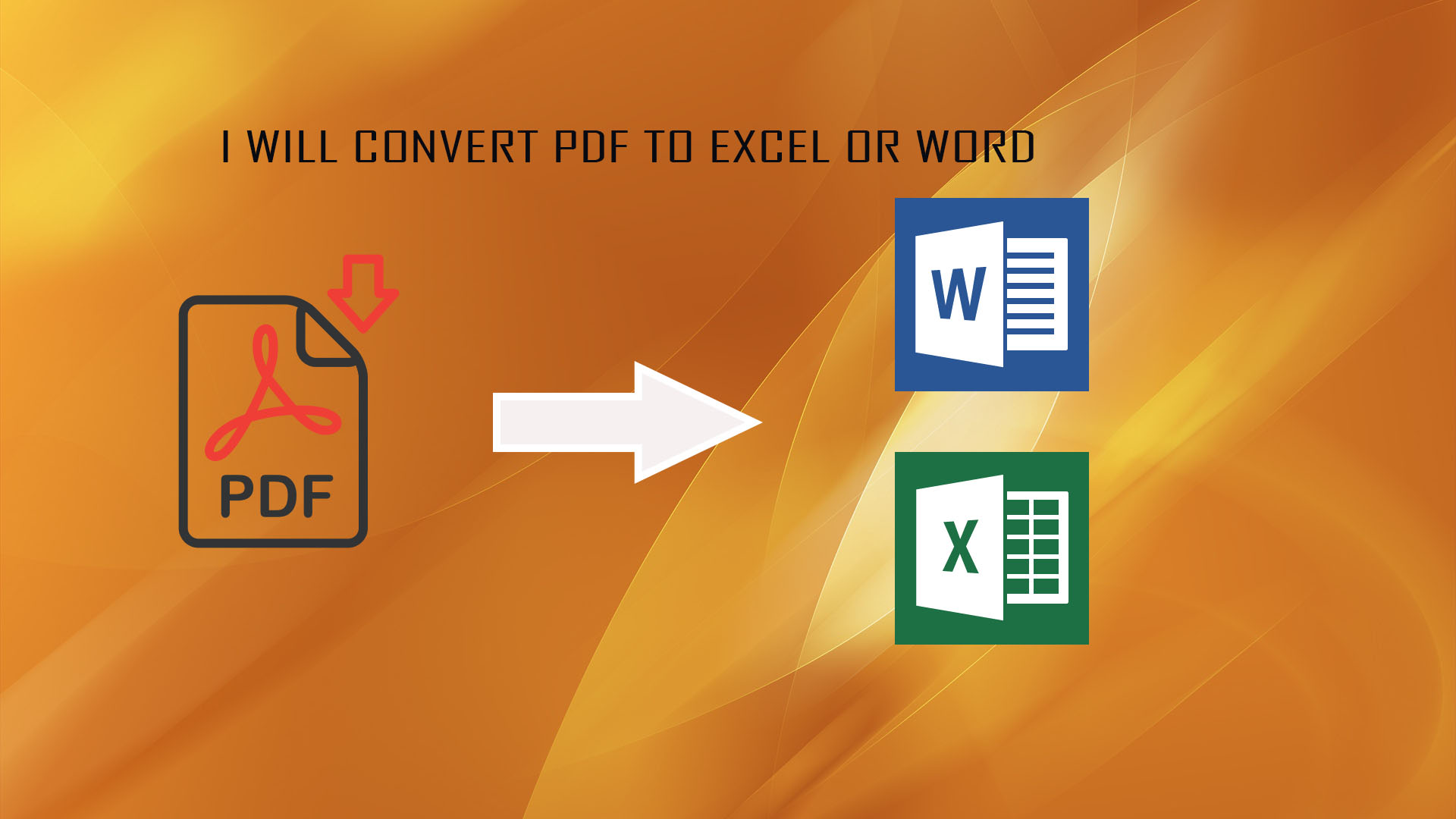 I will Convert PDF to Word or Excel Quickly