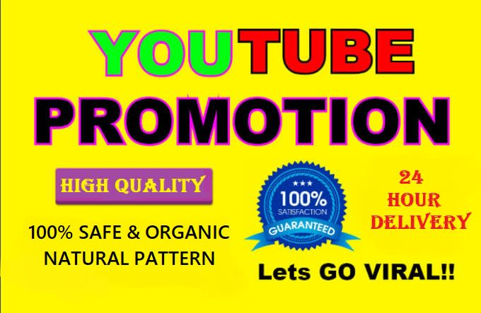 I will do organic youtube music video promotion and 250 backlinks
