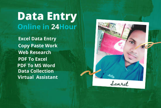 Are you want a Data entry and virtual assistant worker I am here for your work.