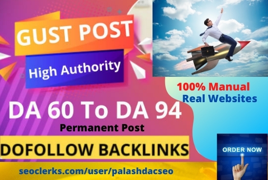 I will publish 10 guest posts from high DA websites